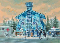 Blues House-14x18 Print On Matte Paper
