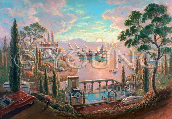 Lake Life-30x40 Print On Canvas