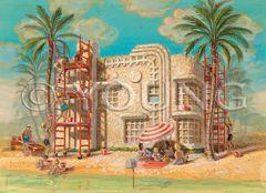 Beach House-14x18 Print On Matte Paper