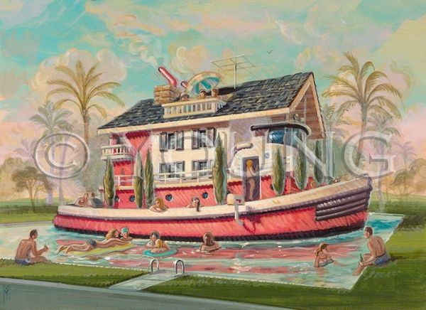 Boat House-14x18 Print On Matte Paper