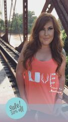 Coral Country Love Tank