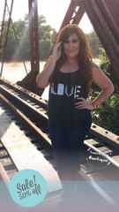 Charcoal Black Country Love Tank