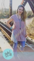 Mauve Side Lace Tunic