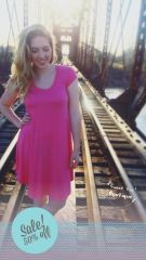 Candy Pink Sweet Tee Tunic Dress