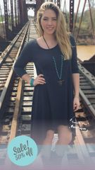 Charcoal Sweet Tee High Low Dress