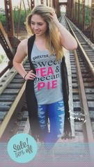 Sweet Tea & Pecan Pie Tank - Gray