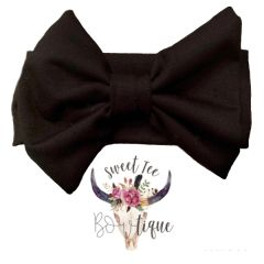 Black Baby Headband Bow