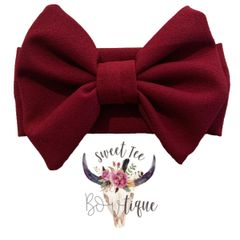 Burgundy Baby Headband Bow