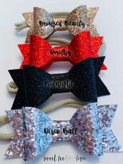 Sparkle Bows (Silver, Black, Red, Bronze)