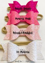 Pink Sparkle Bows