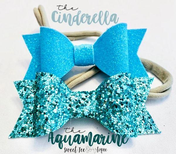 Blue Sparkle Bows
