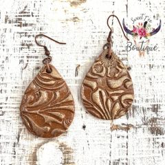 Brown with Gold Teardrop - Medium