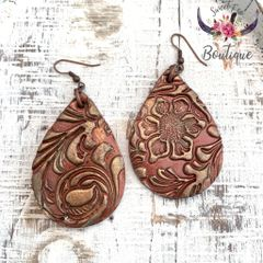 Rust with Gold Teardrop - Large