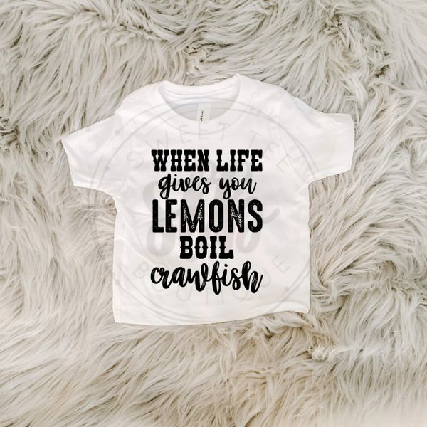 When Life Gives You Lemons Boil Crawfish Baby Tee