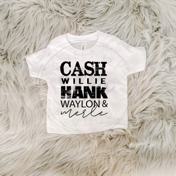 Cash Hank Willie Waylon Merle Baby Tee
