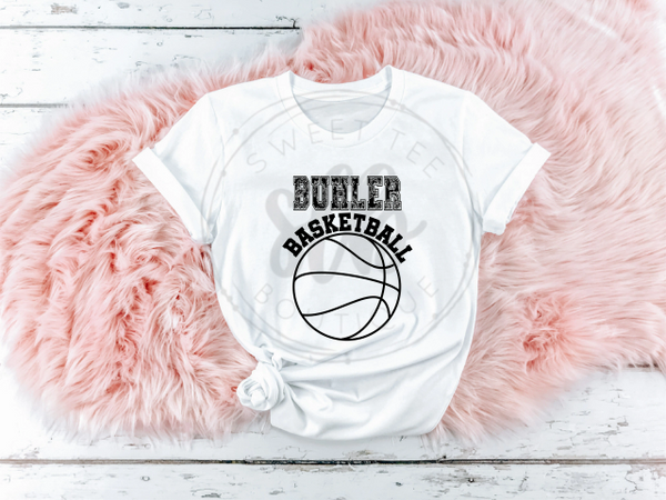 Choose Your Team Basketball with Paisley Letters