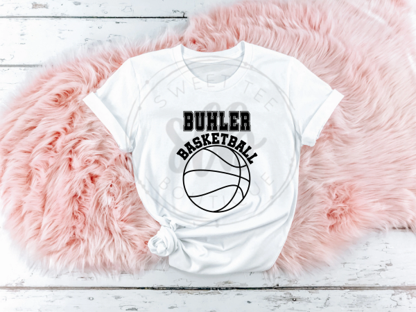 Choose Your Team Basketball with Block Letters