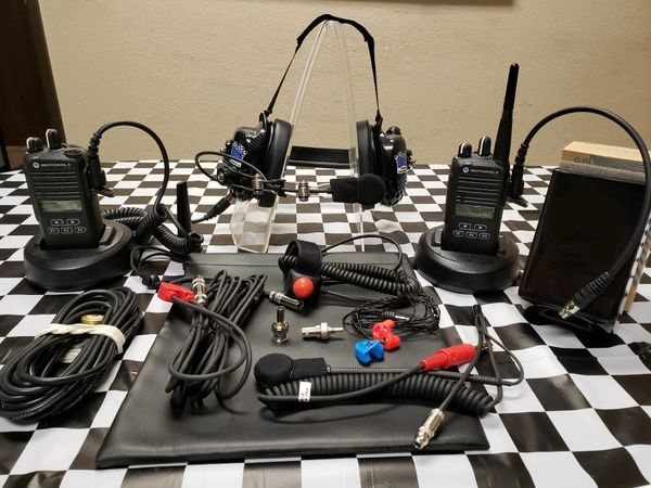 CP185 RACE KIT - Crew and Driver Set Up W/Rail Mic Headset
