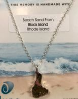 Block Island Jewelry filled with beach sand from the beaches of Block Island