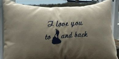 Say it all with our Love You to Block Island and Back Pillow
