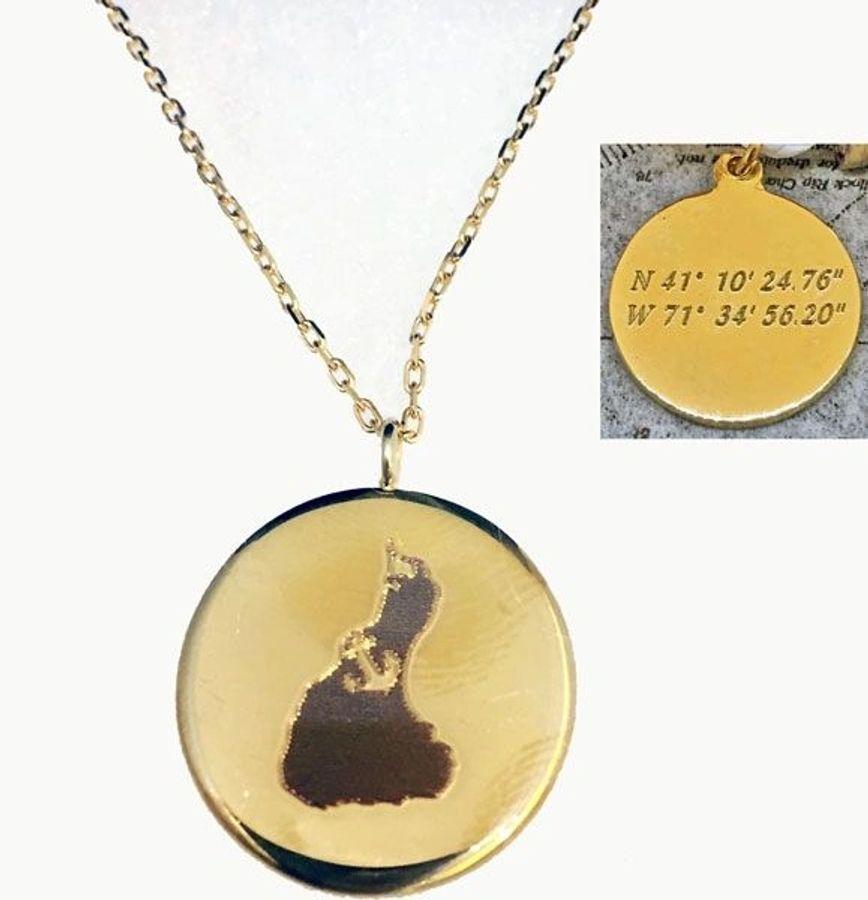 Block Island map necklace Block Island necklace Block Island pendant map key chain map key ring key fob Block Island map pendant