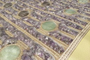 Infrared light therapy mat amethyst tourmaline jade stones heat therapy