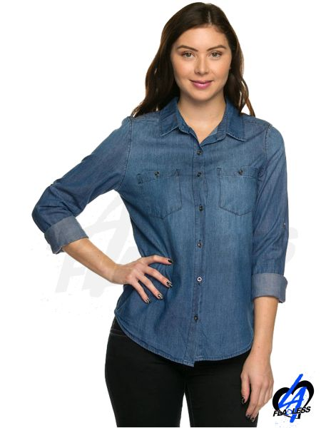 Long Sleeve Denim Shirts