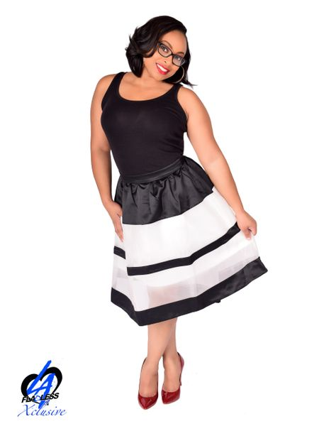 Stripe Skirt - Black/White
