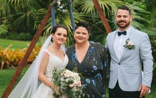 Bride groom mr Mrs celebrant ceremony wedding marriage elopement elope Port Douglas garden commit