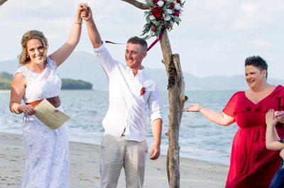 Blessings By Kate Bellman Bride Groom Mr Mrs Newell Beach Ceremony Wedding Marriage Port Douglas