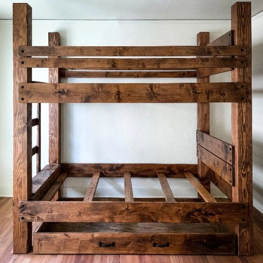 The Big Sky Bunk Bed. High End Adult Bunk Beds for vacation homes, VRBO & AirBNB or your bunk room.