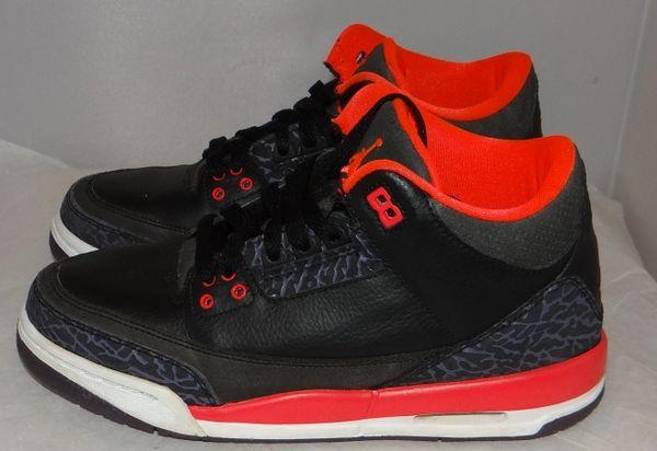 Air Jordan 3 Crimson Size 5 398614 005 #2246