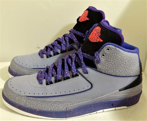 New Air Jordan 2 Iron Purple Size 11 385475 553 #3753