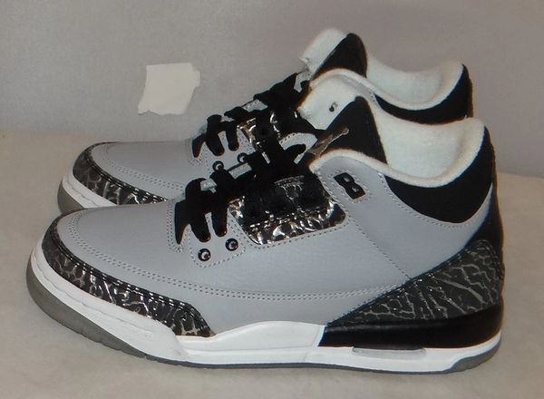 New Air Jordan 3 Wolf Grey Size 3.5 398614 004 #3778