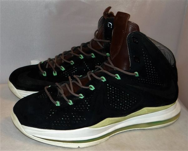 Lebron 10 Black Suede Size 10 607078 001 #3838