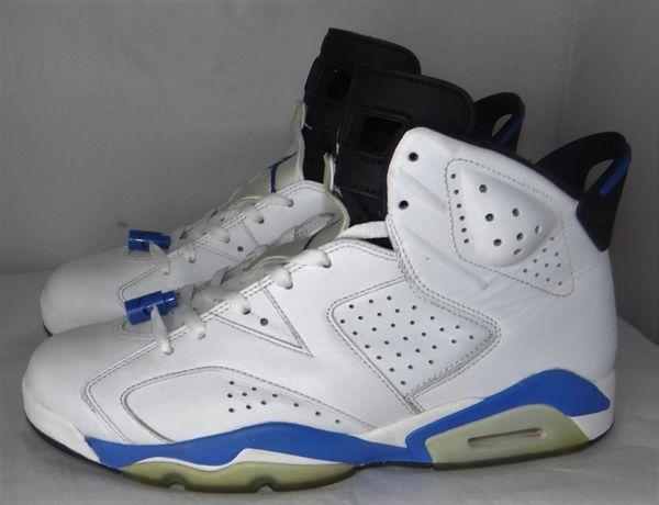 Air Jordan 6 Sport Blue Size 10 384664 107 #3908