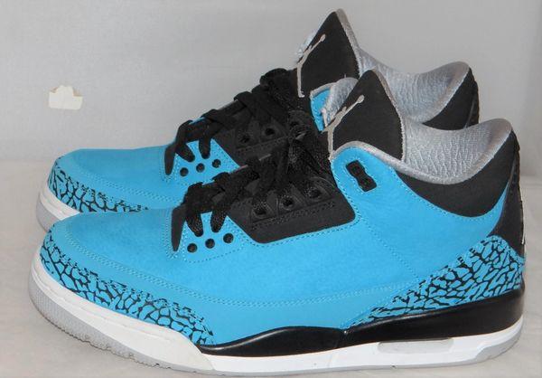 Air Jordan 3 Powder Blue Size 8.5 #4975 136064 406