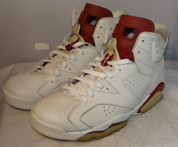 Air Jordan 6 Maroon Size 10 384664 116 #5143