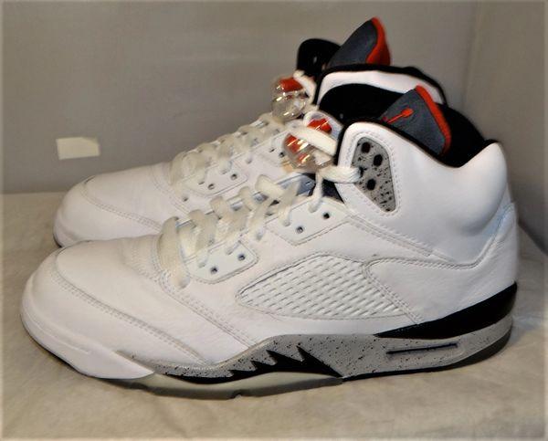 Air Jordan 5 White Cement Size 9.5 136027 104 #5148