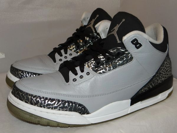 Air Jordan 3 Wolf Grey Size 11.5 #4819 136064 004