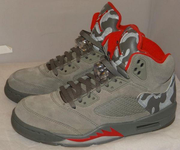 Air Jordan 5 Camo Size 8 136027 051 #5168