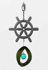 0817 Ship's Wheel Metal Mini Chime