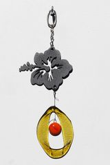 0828 Hibiscus Flower Metal Mini Chime