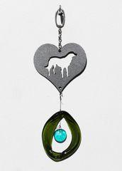 0834 Dog in Heart Metal Mini Chime