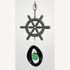 0817-M Ship's Wheel Metal Mini Chime