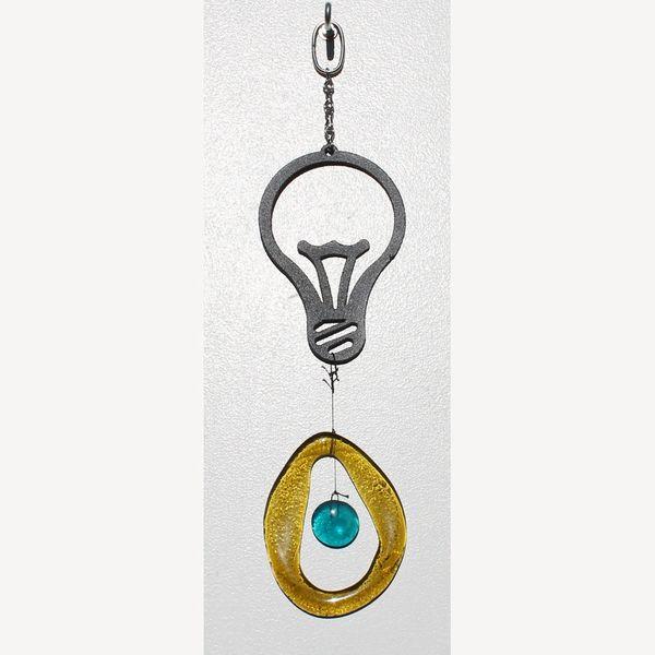 0849-M Light Bulb Metal Mini Chime