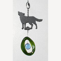 0869-M Wolf Metal Mini Chime