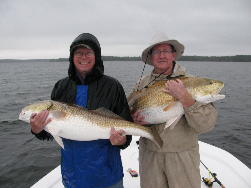trophy redfish caught on popping corks on the Neuse River near Oriental NC