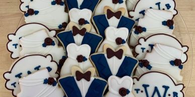 Baby shower and wedding cookies.