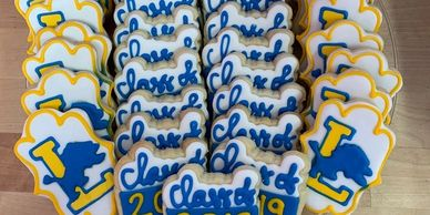 High school and college graduation cookies.